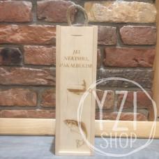 Medinė graviruota dėžė buteliui -  Jei nekimba, pakalbėkim! (2)