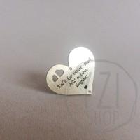 Graviruotas pakabukas  -širdelė - su tavo TEKSTU