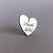 Graviruotas pakabukas  -širdelė - Visada šalia (1)
