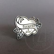 Graviruotas pakabukas   - širdis - Forever & ever